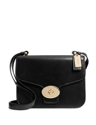 Coach Page Turnlock Shoulder Bag In Glove Calf Leather