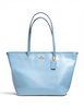 Coach City Street Zip Tote in Crossgrain Leather
