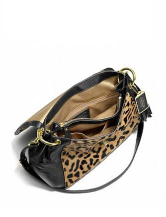 Coach Leopard Printed Park Haircalf Satchel