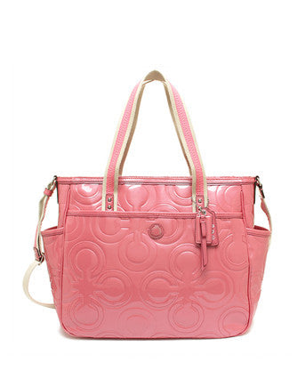 Coach Op Art Patent Leather Multifunction Baby Tote