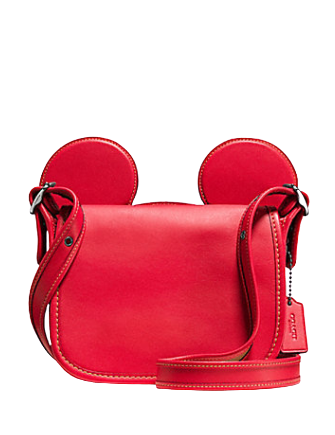 Coach Patricia Saddle in Glove Calf Leather With Mickey Ears