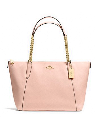Coach Ava Chain Tote in Crossgrain Leather