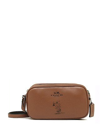 Coach Peanuts Snoopy Leather Pouch Crossbody