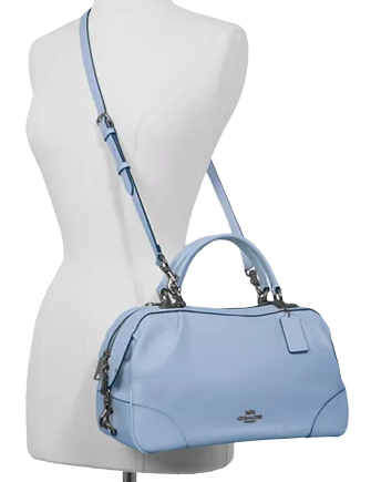 Coach Pebble Leather Lane Satchel