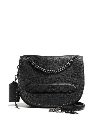 Coach Pebbled Leather Shadow Crossbody