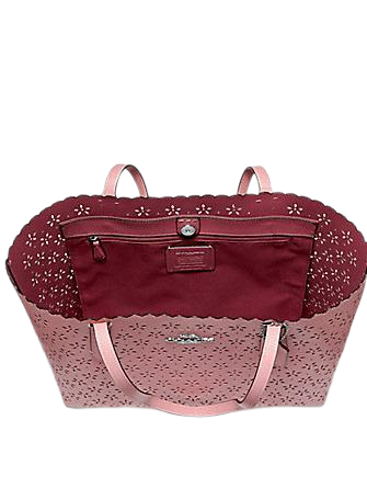Coach Perforated Floral Avenue Tote