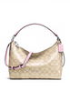 Coach East West Celeste Convertible Hobo in Signature Canvas