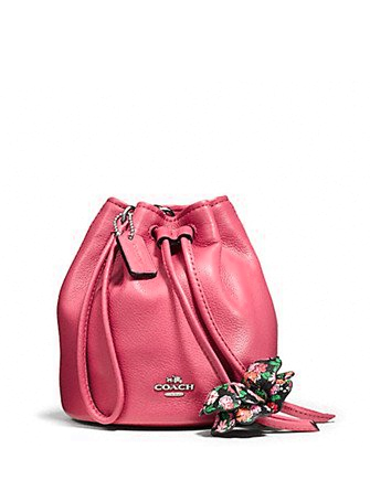 Coach Petal Wristlet in Pebble Leather
