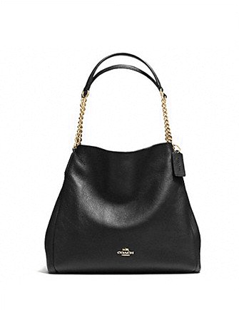 Coach Phoebe Chain Shoulder Bag in Pebble Leather