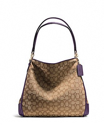 Coach Phoebe Shoulder Bag In Outline Signature
