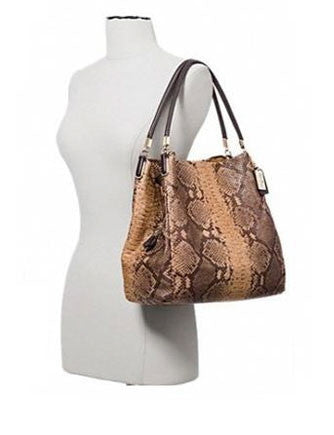 Coach Phoebe Shoulder Bag in Snakeskin Embossed Leather