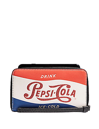Coach Phone Wallet With Pepsi