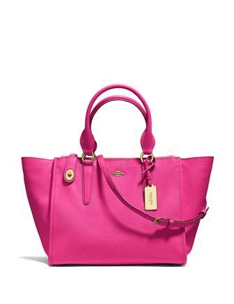 Coach Crosby Zip Top Carryall In Crossgrain Leather