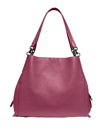 Coach Polished Pebble Leather Dalton 31 Shoulder Bag