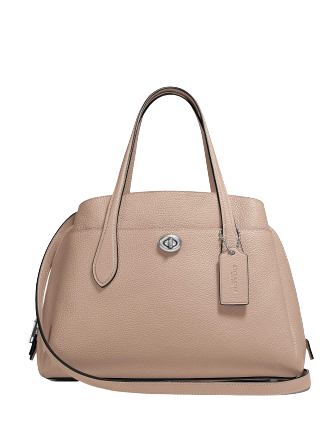Coach Polished Pebble Leather Lora Carryall 30