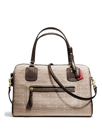 Coach Poppy Signature Oxford East West Satchel