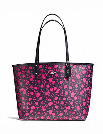 Coach Prairie Calico Print Reversible City Zip Tote