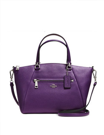 Coach Prairie Satchel in Bicolor Pebble Leather