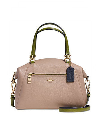 Coach Prairie Satchel in Colorblock Pebble Leather