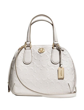 Coach Signature Embossed Leather Prince Street Mini Satchel