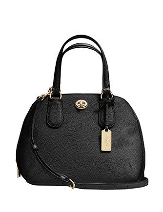 Coach Mini Prince Street Zip Top Satchel in Crossgrain Leather