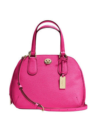 Coach Mini Prince Street Zip Satchel in Crossgrain Leather