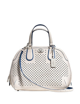 Coach Prince Street Zip Top Satchel in Perforated Leather
