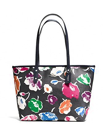 Coach City Zip Tote in Wildflower Crossgrain Leather