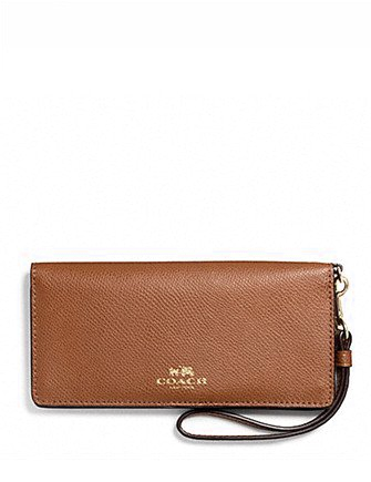 Coach Rainbow Colorblock Slim Wristlet Wallet