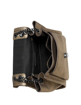 Coach Ranger Flap Crossbody In Smooth Metallic Leather