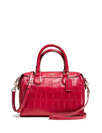 Coach Mini Bennett Satchel in Croc Embossed Leather