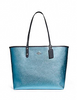 Coach Reversible City Tote In Signature and Metallic Canvas