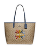 Coach Reversible City Tote in Signature Canvas With Coach Radial Rainbow