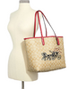 Coach Reversible City Tote in Signature Canvas With Horse and  Carriage  Hearts