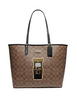 Coach Reversible City Tote in Signature Canvas With Pac Man Game