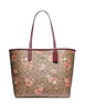 Coach Reversible City Tote in Signature Canvas With Prairie Daisy Cluster Print