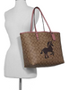 Coach Reversible City Tote in Signature Canvas With Unicorn Motif