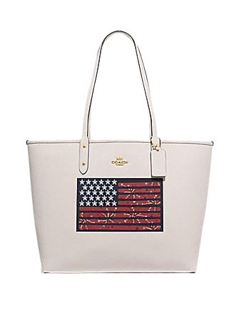 Coach Reversible City Tote With Americana Flag Motif
