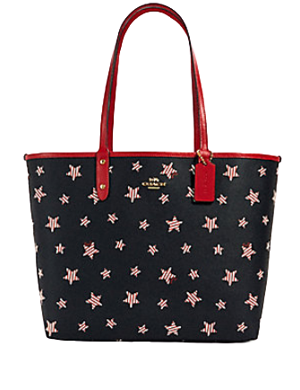 Coach Reversible City Tote With Americana Star Print