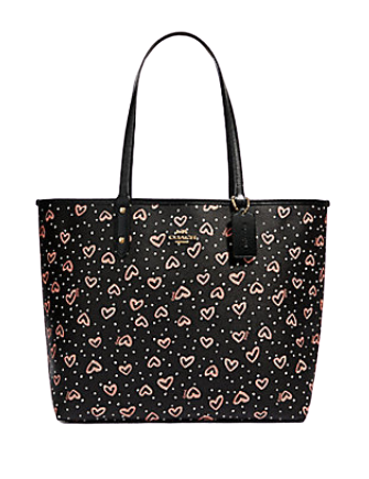 Coach Reversible City Tote With Crayon Hearts Print