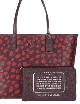 Coach Reversible City Tote With Deer Spots