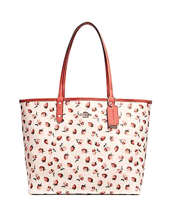 Coach Reversible City Tote With Fruit Print