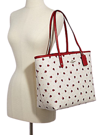 Coach Reversible City Tote With Ladybug Print