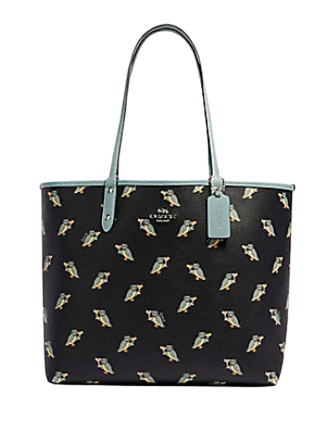 Coach Reversible City Tote With Party Owl Print