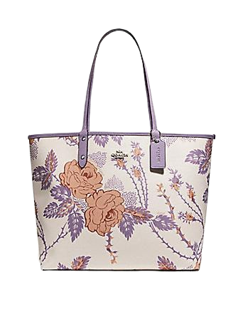 Coach Reversible City Tote With Thorn Roses Print