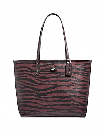 Coach Reversible City Tote With Tiger Print