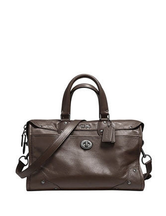 Coach Rhyder Zip Satchel in Grain Soft Leather