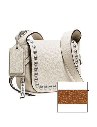 Coach Rivets Dakotah 15 Crossbody In Grain Pebble Leather