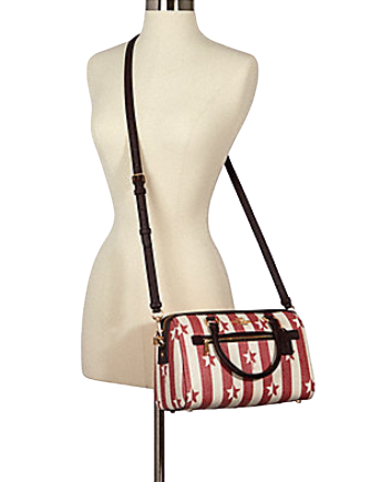 Coach Rowan Satchel in Stripe Star Print