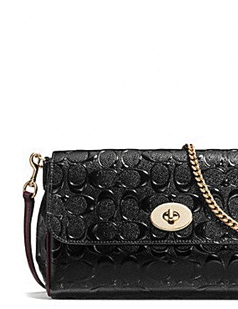 Coach Ruby Crossbody in Signature Debossed Patent Leather